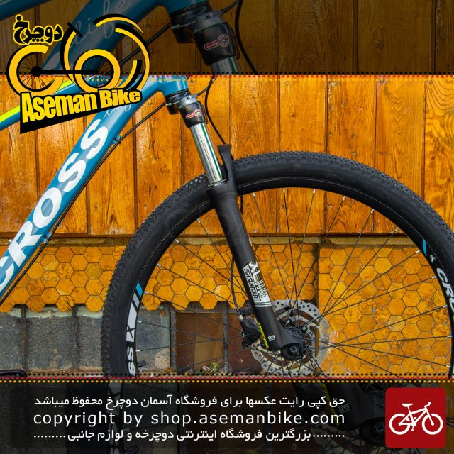 دوچرخه کوهستان برند کراس مدل فانتوم سایز 29 رنگ آبی با سیتسم دنده 27 سرعته MTB Bicycle Fantom Size 29 Blue 27 Speed