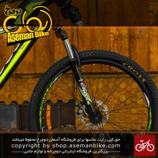 دوچرخه کوهستان برند کراس مدل سیگما سایز 27.5 رنگ مشکی و سبز با سیستم دنده 21 سرعته MTB Bicycle Sigma Size 27.5 Black & Green 21 Speed