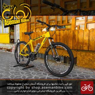 دوچرخه کوهستان گالانت مدل اسپینیکس V20 سایز 27.5 رنگ زرد با سیستم دنده 24 سرعته MTB Bicycle Galant Spinix V20 Size 27.5 Yellow 24 Speed