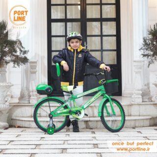 دوچرخه بچگانه برند پورت لاین مدل چیچک سایز 20 رنگ سبز Kids Bicycle Port Line Chichak Size 20 Green