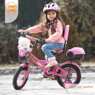 دوچرخه بچگانه برند پورت لاین مدل چیچک سایز 12 رنگ صورتی Kids Bicycle Port Line Chichak Size 12 Pink