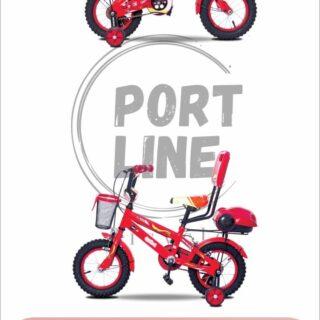 دوچرخه بچگانه برند پورت لاین مدل چیچک سایز 12 رنگ قرمز Kids Bicycle Port Line Chichak Size 12 Red