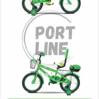 دوچرخه بچگانه برند پورت لاین مدل چیچک سایز 16 رنگ سبز Kids Bicycle Port Line Chichak Size 16 Green