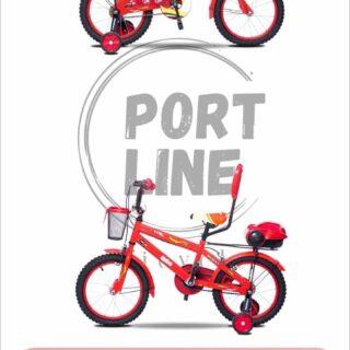 دوچرخه بچگانه برند پورت لاین مدل چیچک سایز 16 رنگ قرمز Kids Bicycle Port Line Chichak Size 16 Red