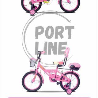 دوچرخه بچگانه برند پورت لاین مدل چیچک سایز 16 رنگ صورتی Kids Bicycle Port Line Chichak Size 16 Pink