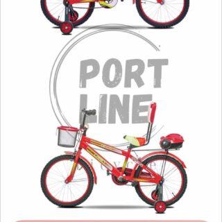 دوچرخه بچگانه برند پورت لاین مدل چیچک سایز 20 رنگ قرمز Kids Bicycle Port Line Chichak Size 20 Red