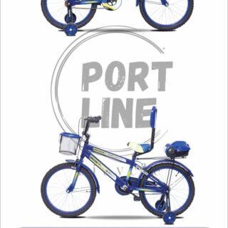 دوچرخه بچگانه برند پورت لاین مدل چیچک سایز 20 رنگ آبی Kids Bicycle Port Line Chichak Size 20 Blue