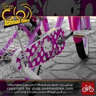 دوچرخه بچه گانه اسمارت مدل هلو کیتی رنگ صورتی لایت بابل گام سایز 16 بغلبند دار صندوق دار Smart Kids Bicycle Hello Kitty Size 16 Light Pink Bubble Gum