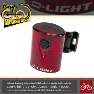 چراغ عقب دوچرخه برند دی لایت مدل F.L. CG211R فوق سبک D-Light USB Rechargeable 3 Red LEDS F.L. CG211R