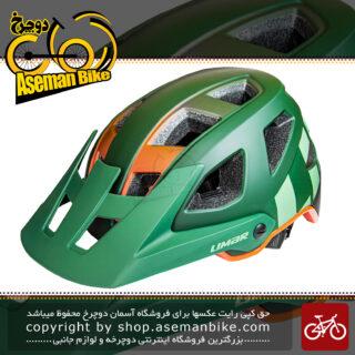 کلاه دوچرخه سواری لیمار مدل DELTA سبز نارنجی مات برند ایتالیایی سایز 58 تا 62 سانتی متر Limar Helmet Bicycle Delta 58-62 CM Green Orange Matte
