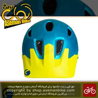 کلاه ایمنی دوچرخه کوهستان لیمار مدل 848 دی آر سایز لارج 58-62 سانت طراحی ایتالیا رنگ آبی زرد مات LIMAR MTB Bicycle Safe Helmet 848DR L 58-62cm Matt Blue Yellow
