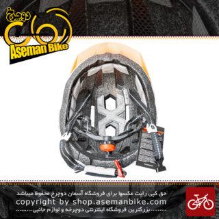 کلاه دوچرخه سواری لیمار ایتالیا مدل ایکس راید سایز 61-57 سانتی متر سفید نارنجی Original Limar X-Ride Bicycle Helmet