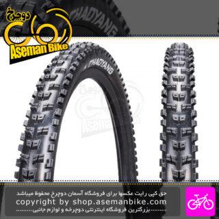 تایر لاستیک دوچرخه کوهستان چاویانگ سایز 27.5 در 2.35 کد اچ 5139 مدل ROCK WOLF قابلیت تیوبلس ردی Tire Bicycle Chao Yang Mountain Bike ZC Rubber 27.5x2.35 H-5139TR ROCK WOLF