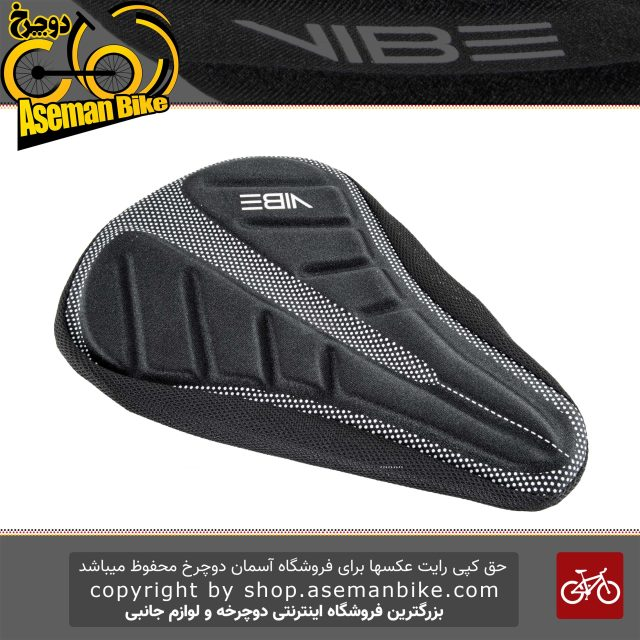 روکش زین ژله ای دوچرخه وایب 680I9 مشکی Saddle Bicycle Cover VIBE 680I9