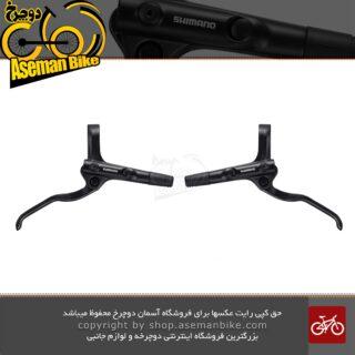 جفت چپ و راست دسته ترمز هیدرولیکی (روغنی) دوچرخه شیمانو MT200 مشکی Shimano BL-MT200 Disc Brake Lever black